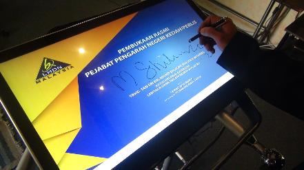 Digital signature pad during launch