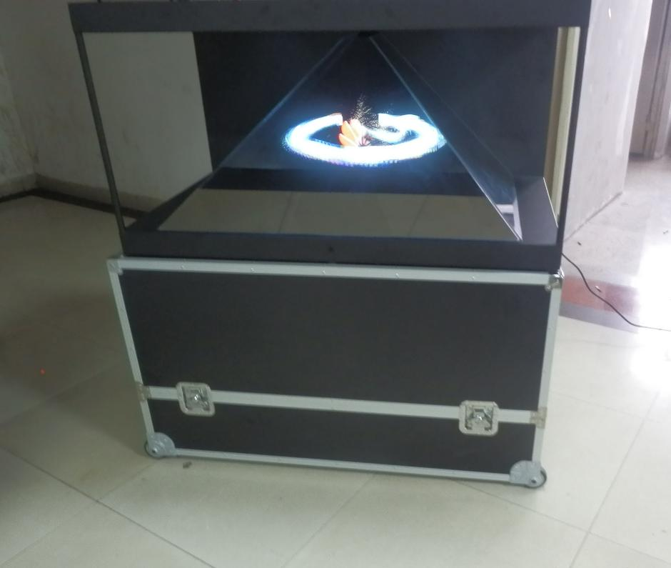 3 sided Holographic Display for malls & launches